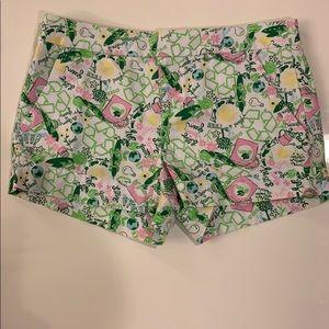 Lilly Pulitzer Originals Printed Shorts- Size 0
